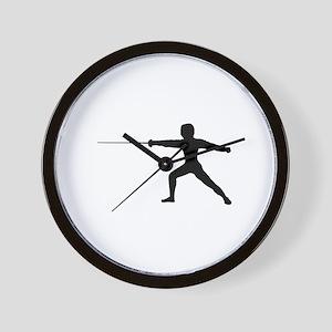 Guy Fencer Wall Clock