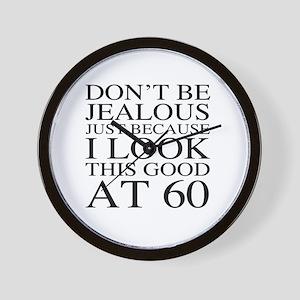 60th Birthday Jealous Wall Clock