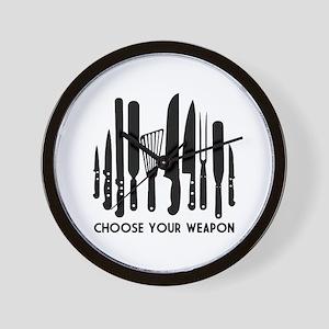 Choose Weapon Wall Clock