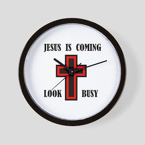 JESUS IS COMING Wall Clock