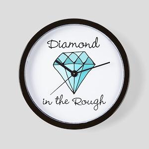 'Diamond in the Rough' Wall Clock