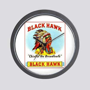 Black Hawk Chief Cigar Label Wall Clock