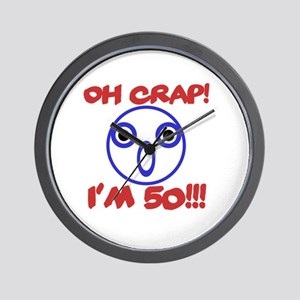 Funny 50th Birthday Wall Clock