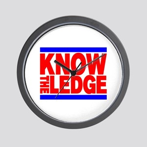 KNOW THE LEDGE Wall Clock
