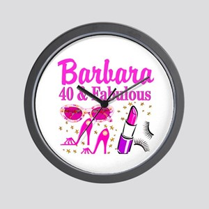 40TH PARTY GIRL Wall Clock