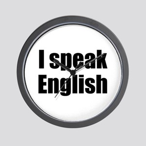 I speak English Wall Clock