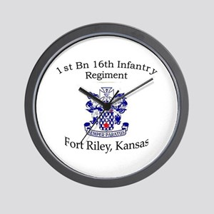 1st Bn 16th Infantry Wall Clock