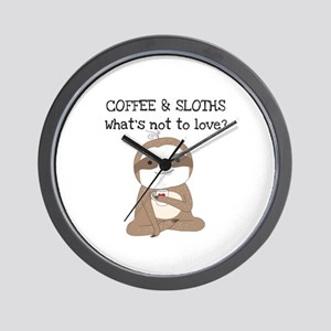 Coffee and Sloths Wall Clock