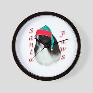 Santa Paws Japanese Chin Wall Clock