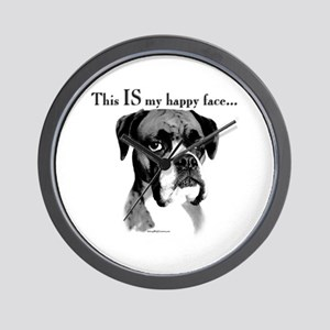 Boxer Happy Face Wall Clock