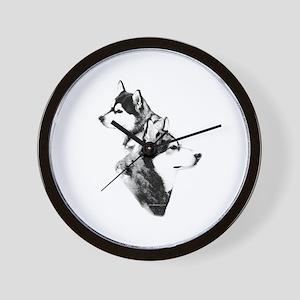 Mal Charcoal2 Wall Clock