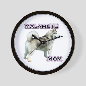 Malamute Mom4 Wall Clock