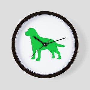 Labrador Retriever St. Patty's Day Wall Clock