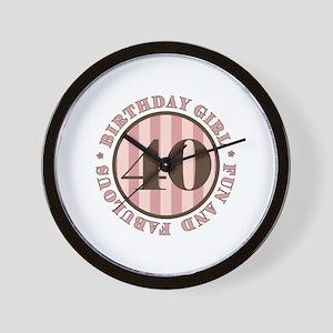 Fun & Fabulous 40th Birthday Wall Clock