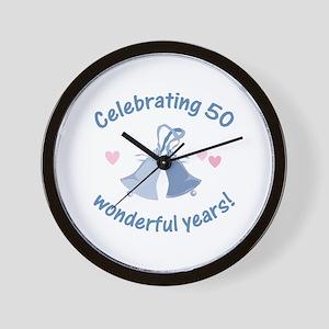 50th Anniversary Bells Wall Clock