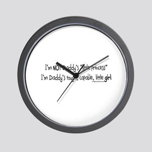 NOT Daddy's princess girl power Wall Clock