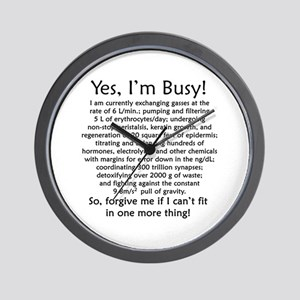 Yes, I'm Busy! Wall Clock