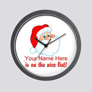 Personalized Nice List Wall Clock