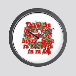 Deck The Harrs - Christmas Story Chinese Wall Cloc