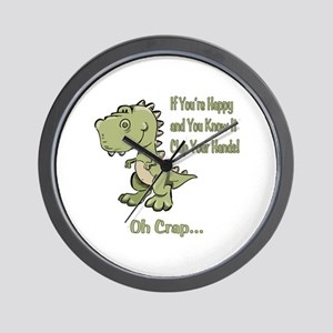 Happy TRex Wall Clock