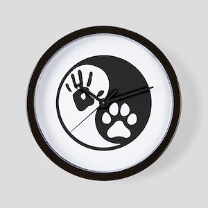Human & Dog Yin Yang Wall Clock