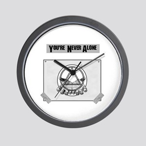 Youre Never Alone Wall Clock