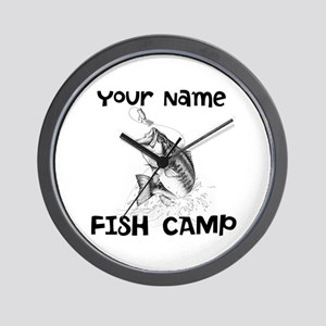 Personlize Fish Camp Wall Clock