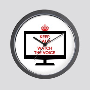 Keep Calm and Watch The Voice Wall Clock