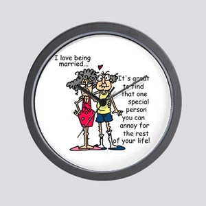 Marriage Humor Wall Clock