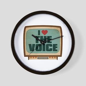 Retro I Heart The Voice Wall Clock