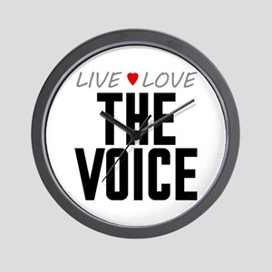 Live Love The Voice Wall Clock
