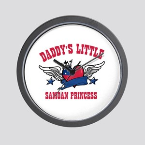 Daddy's Little Samoan Princess Wall Clock