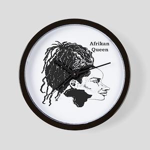 Afrikan Queen Wall Clock
