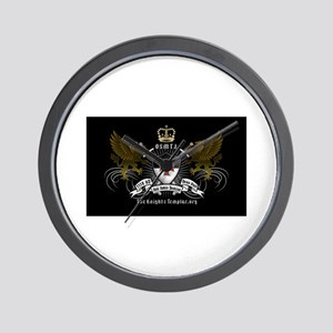 OSMTJ on Black Background Wall Clock