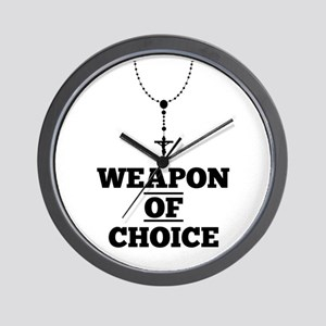 Weapon of Choice Wall Clock