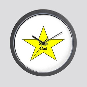 Proud Stage Dad Wall Clock