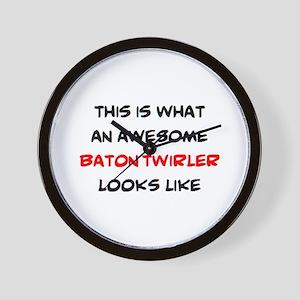 awesome baton twirler Wall Clock