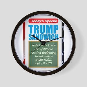 Trump Sandwich Wall Clock