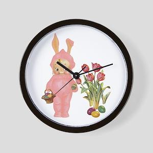 KEWPIE & TULIPS Wall Clock