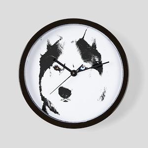 Husky Bi-Eye Husky Dog Wall Clock