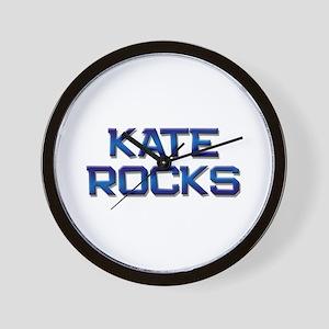 kate rocks Wall Clock