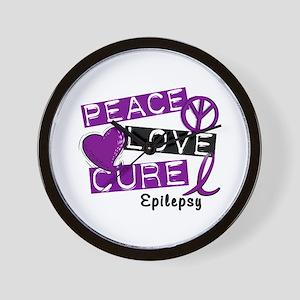PEACE LOVE CURE Epilepsy (L1) Wall Clock
