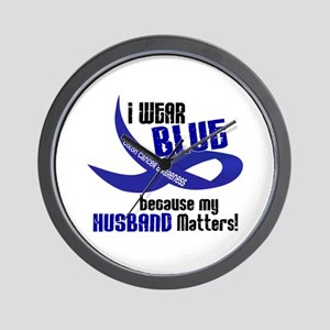 I Wear Blue For My Husband 33 CC Wall Clock