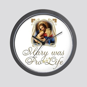 Mary was Pro-Life (vertical) Wall Clock