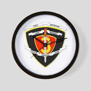 SSI - 1st Battalion - 3rd Marines Wall Clock