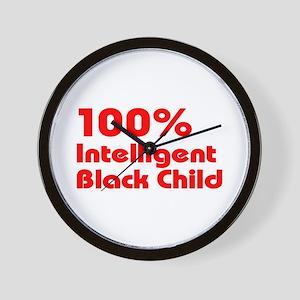 100% Intelligent Black Child Wall Clock