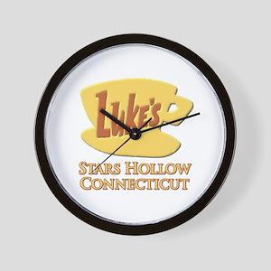 Luke's Diner Stars Hollow Gilmore Girls Wall Clock