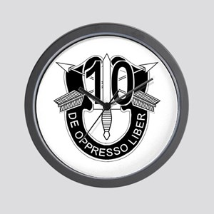 10th Special Forces - DUI - No Txt Wall Clock