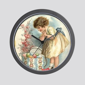 victorian easter Wall Clock