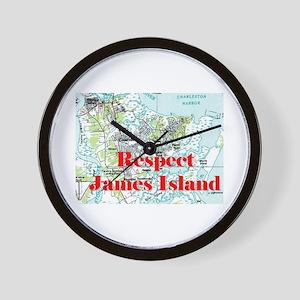 Respect James Island Wall Clock